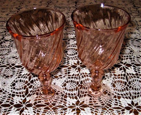 Pair Vintage Arcorac Water Glasses