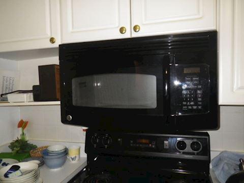 Black GE Microwave