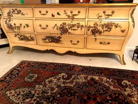 Handpainted French Provencial Nine Drawer Dresser