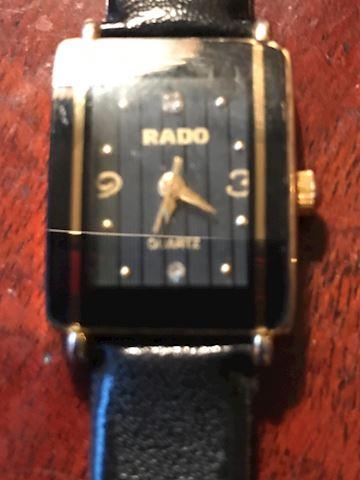 Ladies Rado Watch  Black leather band