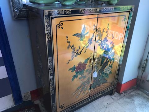 Chinese Gold Foil Lacqered Chest