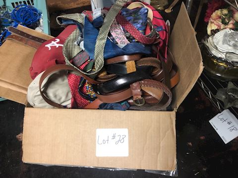 Huge lot of Belts, Hats, and Ties - Lot 28