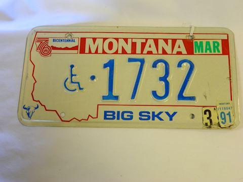 1991 MT Handicap plate