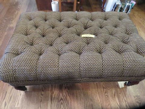 Large Upholstered Bench & Tray
