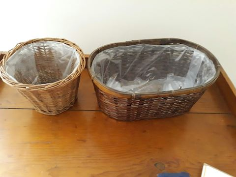 D-117....Two   Basket Plant Holders