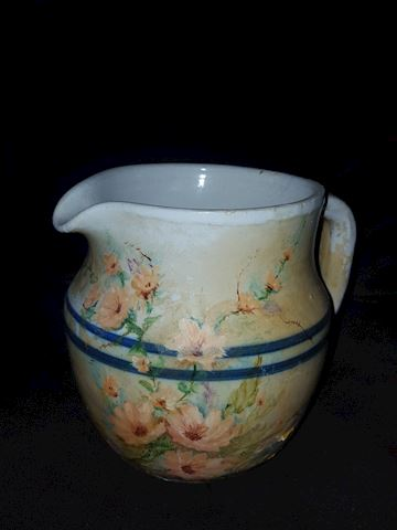 Vintage Painted crock pitcher