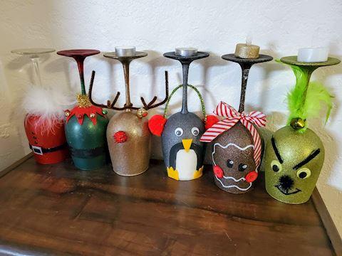 Christmas Decor Candle Holders