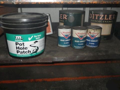 Pot Hole Patch and Brake Lubricant