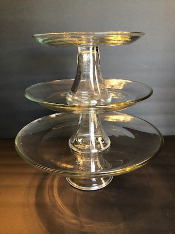 Tiered Cake Dessert Serving Set by Anchor Glass