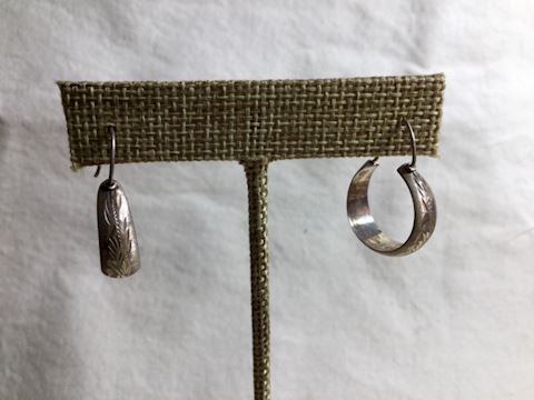 Sterling Silver Hoop Earrings #80