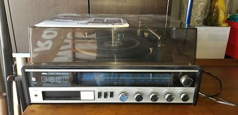 Miida 1110c 8 track player stereo record player
