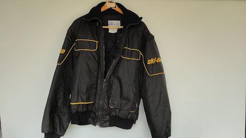 Black Ski-doo Bombardier snowmobile jacket Lot #93