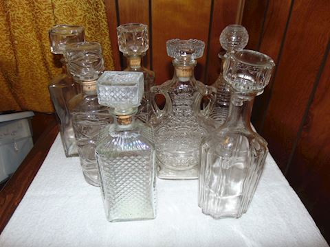 Grouping of Vintage Decanters