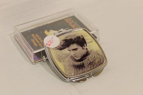 Elvis Presley VINTAGE Ladies Make-Up Case Silver