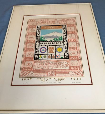 Timberline Lodge 1987 anniversary print, Sue Allen
