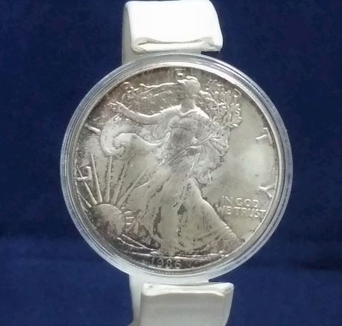 1986 Beautiful Fine Walking Silver Eagle