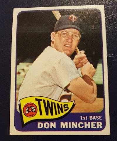 1965 Don Mincher Baseball Card #108
