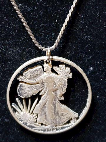 Walking Liberty Coin Pendant