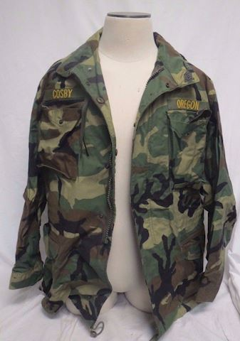 Army Combat Cold Weather Jacket with pins patches