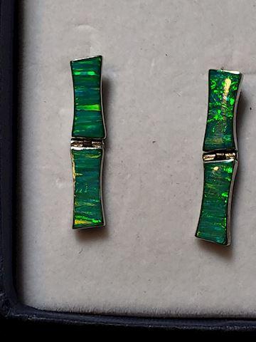 Green Fire Opal Earrings
