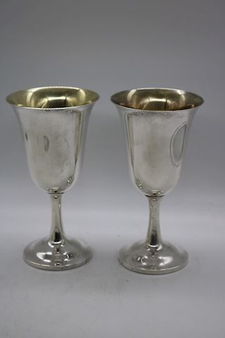 2 Wallace  Sterling Silver Goblets Pattern 122