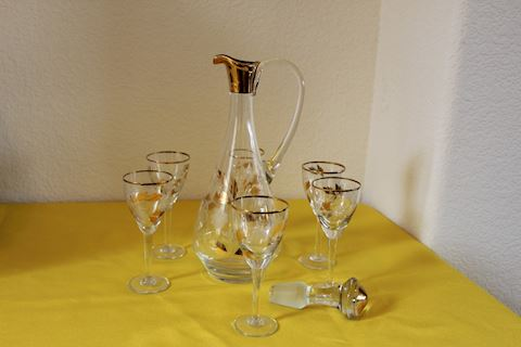 Vintage Cordial Decanter Set 7pc