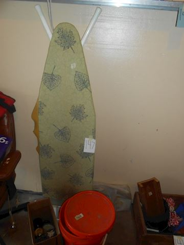 Lot # 147 Ironing board and misc