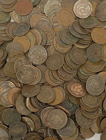 Estate Collection of 100 Old Indian Head Pennies