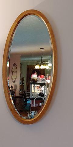 Beautiful antique oak beveled Edge mirror