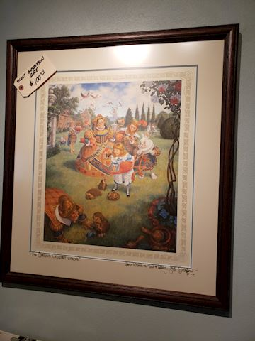 Scott Gustafson artwork Alice In Wonderland signed
