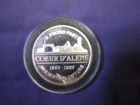 Coin - Couer d' Alene 1 Oz. Silver
