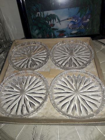 Set of 8 Crystal Coasters in Box