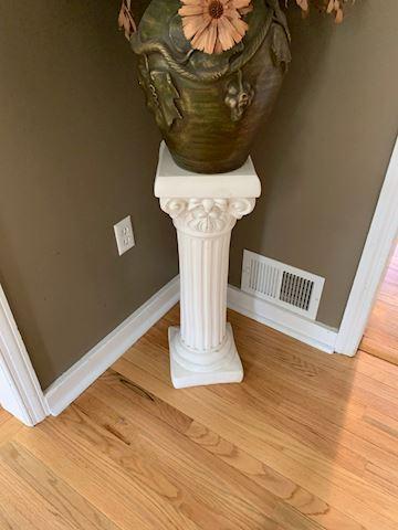 Faux Floral Decor with Decorative Pedestal