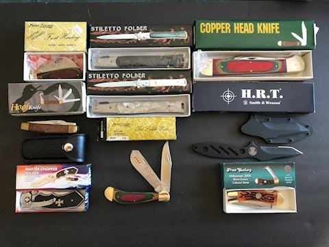 Collection of 9 Pocket Knives Lot 1