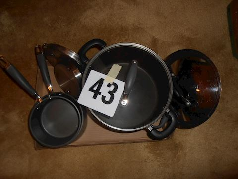 Lot #43 Anolon pot and pan set