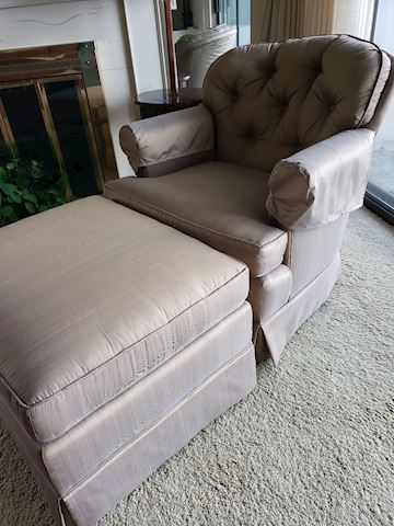 Mid-Century Club Chair and Ottoman