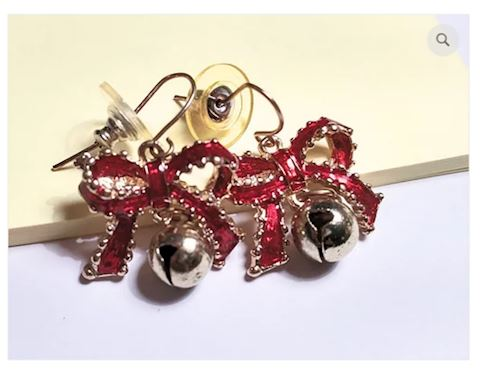 Christmas Earrings w/ Bells