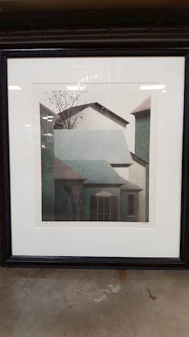 "1991 ROBERT KIPNISS ""ROOFTOPS at ELSAH"" S/N LITHOG"