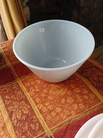 Fire King robin egg blue mixing bowl