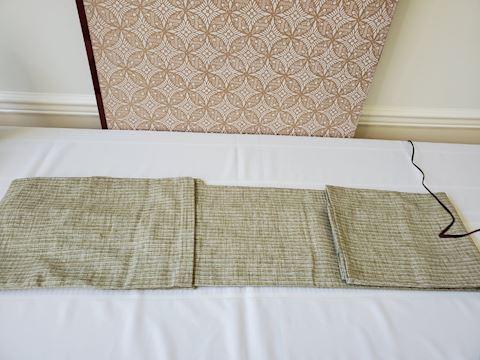Green and grey unlined silk Kimono N-8