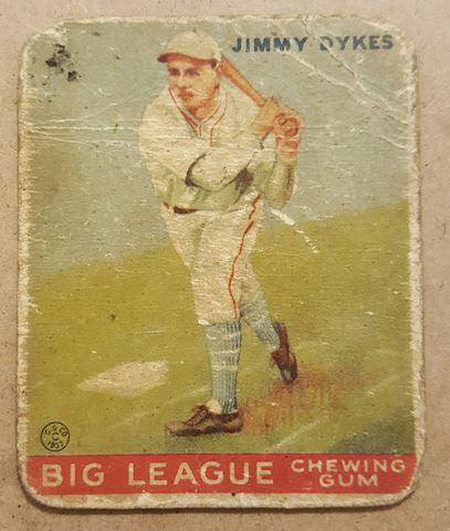 Old 1933 Jimmy Dykes Baseball Card #6
