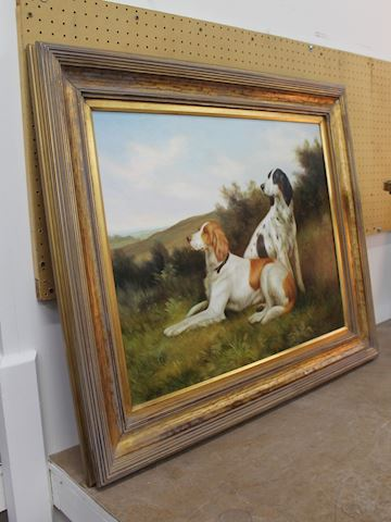 Hunting Dogs Painting by Jim Hoff