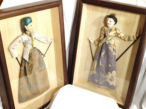 Antique Taiwan Puppets Handcrafted