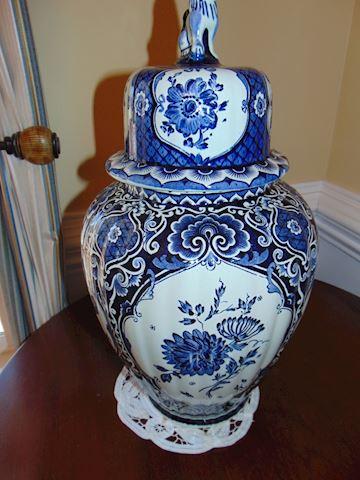 Delft Ginger Jar with Lid