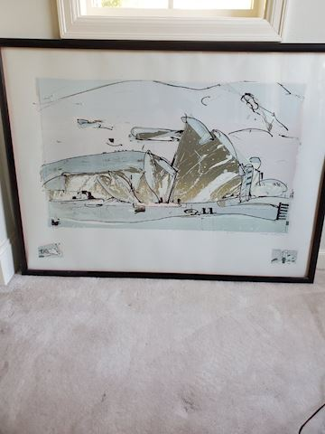 Large abstract print numbered 5/50