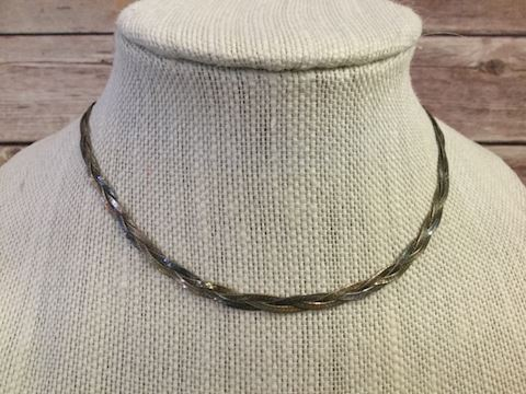 Sterling Silver braided chain necklace