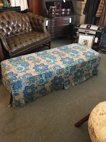 Double Ottoman with Custom Cover