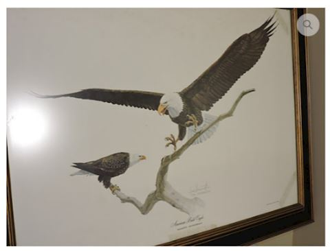 CLASSIC ART Bald Eagle by Tom Dunnington Signed