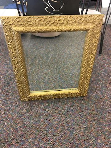 Antique Gold Wood Framed Mirror 24 1/2 x 30""