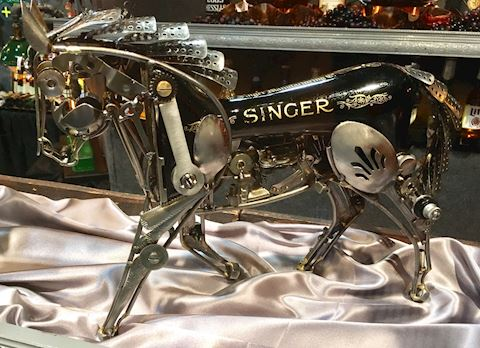 Singer Horse Sculpture
